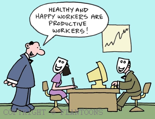 a happy worker is a productive worker I believe that a happy worker can be more productive than an unhappy worker but it can not be said with complete conviction that a happy worker has to be more productive i will draw on theories of motivation, attitudes and job satisfaction in order to prove the above.
