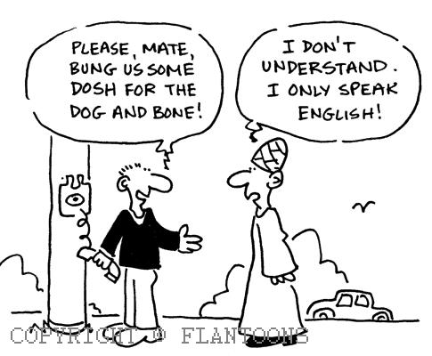 the intercultural slang in england